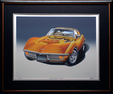 SAMPLE 72 CORVETTE GICLEE FRAMED - AutomotiveFineArt.com