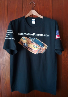 AUTOMOTIVEFINEART.COM BLACK T-SHIRT - AutomotiveFineArt.com