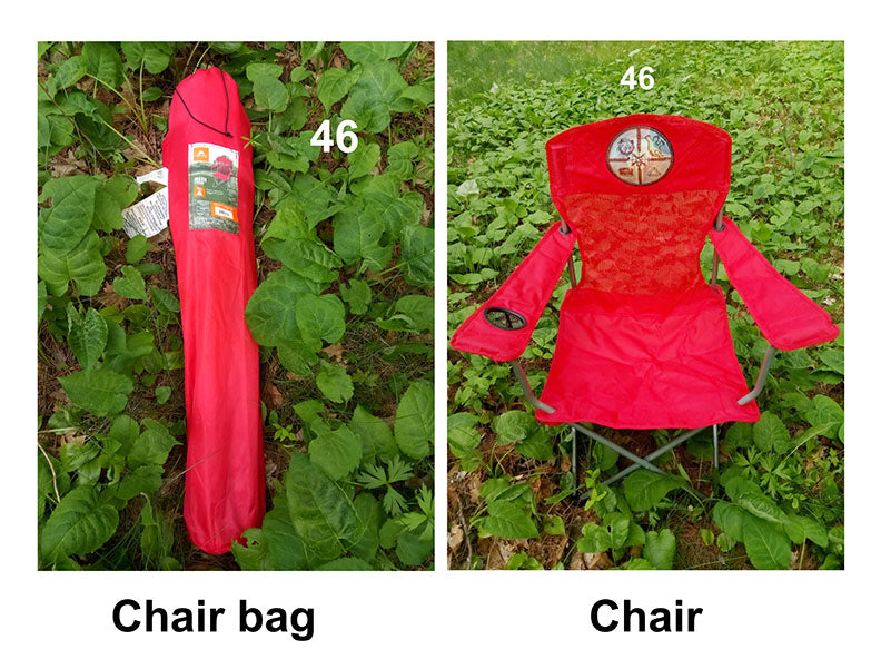 46. OUTDOOR CHAIR + BAG