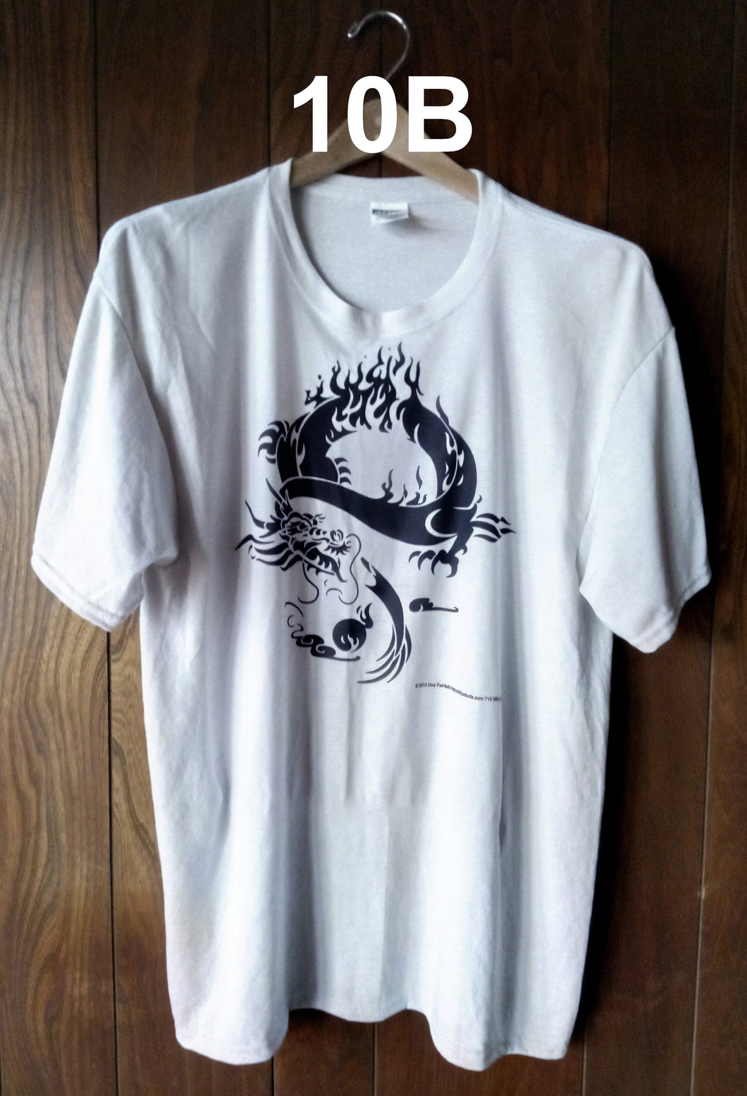 BLACK DRAGON ON SILVER T-SHIRT