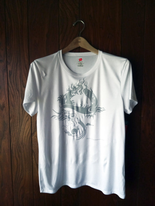 GRAY DRAGON ON WHITE A4 SHORT SLEEVE - AutomotiveFineArt.com