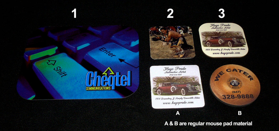 GLOSSY MOUSE PADS, GLOSSY COASTERS, WOOD COASTERS - AutomotiveFineArt.com