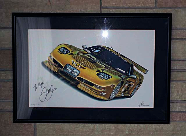 SAMPLE BIG DALE GICLEE FRAMED (Signed by Dale Jr. NOT FOR SALE) See top front page... - AutomotiveFineArt.com