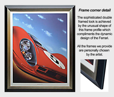 SAMPLE FERRARI GICLEE FRAMED - AutomotiveFineArt.com