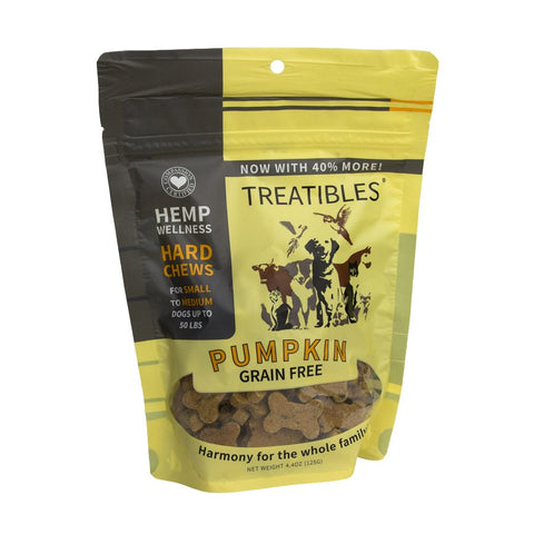 Treatibles: Hemp Wellness Dog Chews (Pumpkin)
