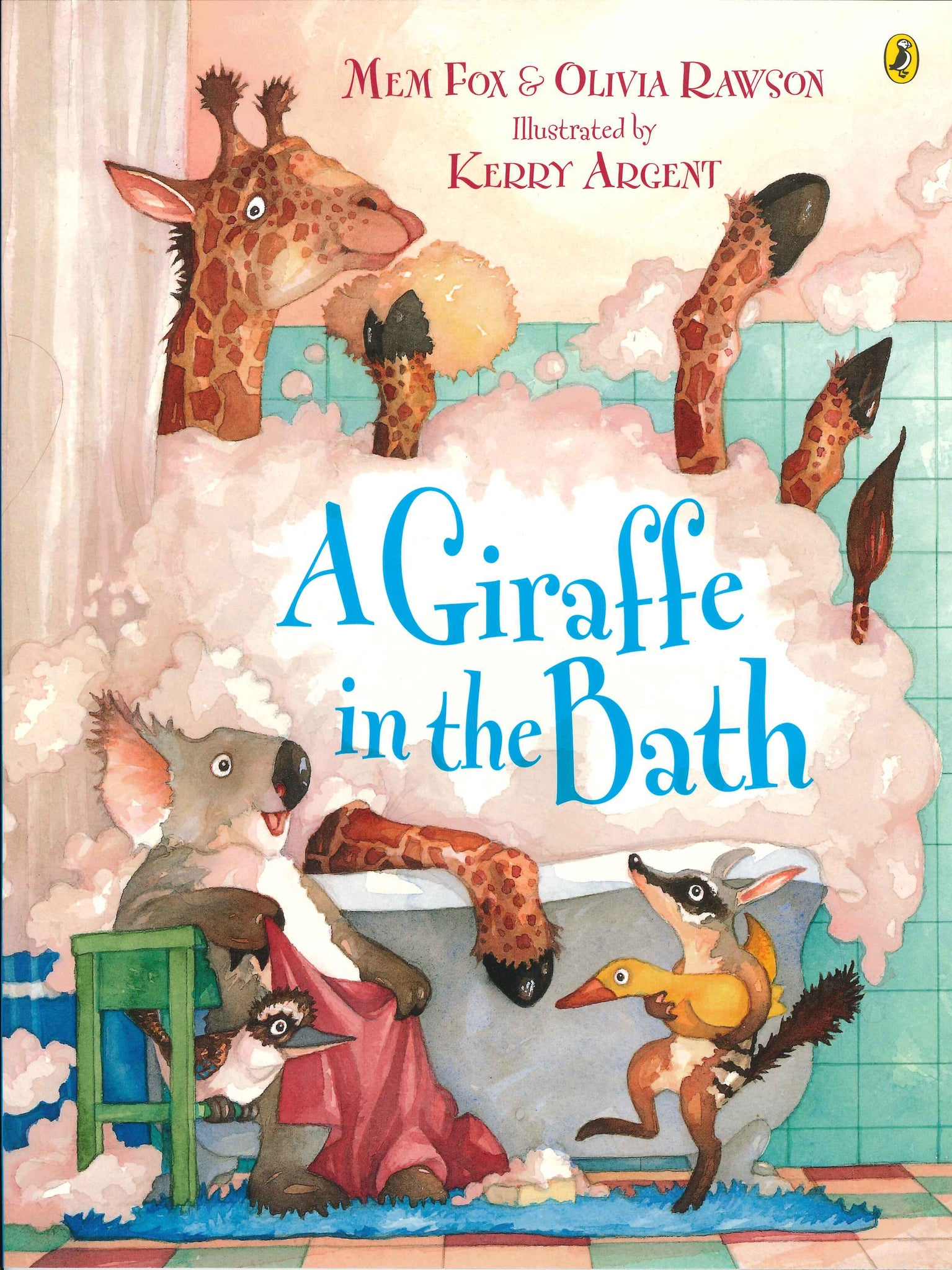 A Giraffe in the Bath