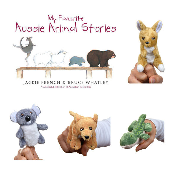 Aussie Finger Puppets + My favourite Aussie Animal Stories & Croc CBag