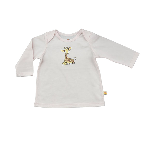 Baby Long Sleeve T-Shirt - Organic Cotton -Giraffe