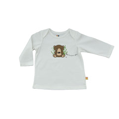 Baby Long Sleeve T-Shirt - Organic Cotton -Grizzly Bear