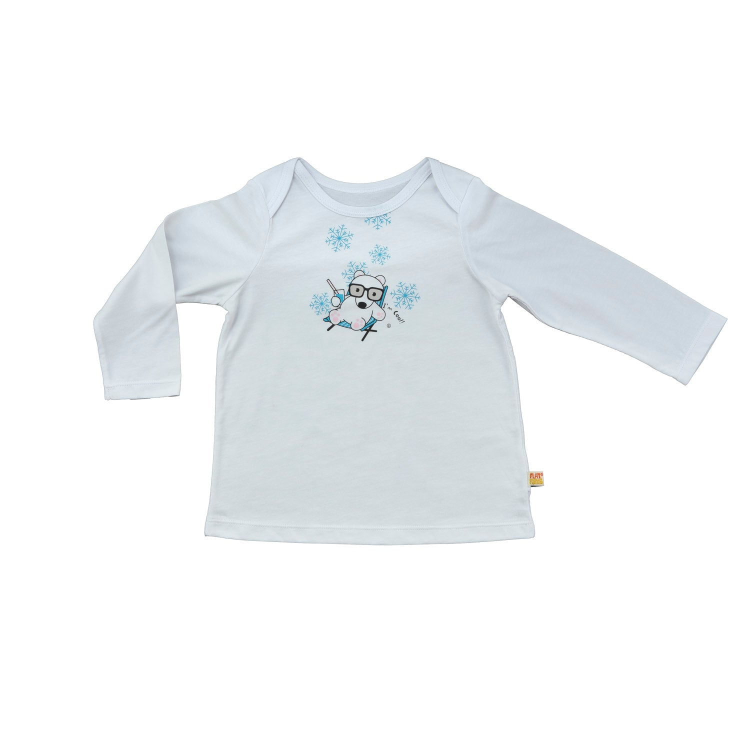Baby Long Sleeve T-Shirt - Organic Cotton -Polar Bear