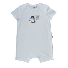 Short Sleeve Baby Jump Suit - Organic Cotton -Penguin