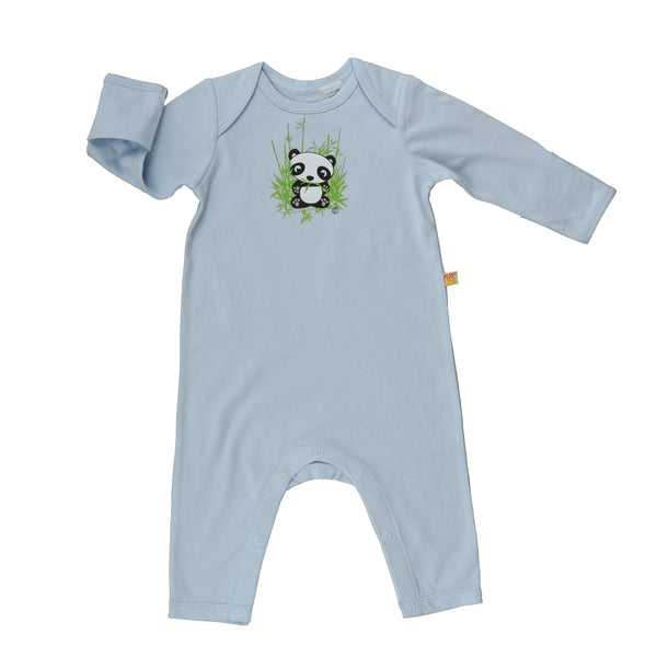 Long Sleeve Baby Jump Suit – Organic Cotton - Panda Bear