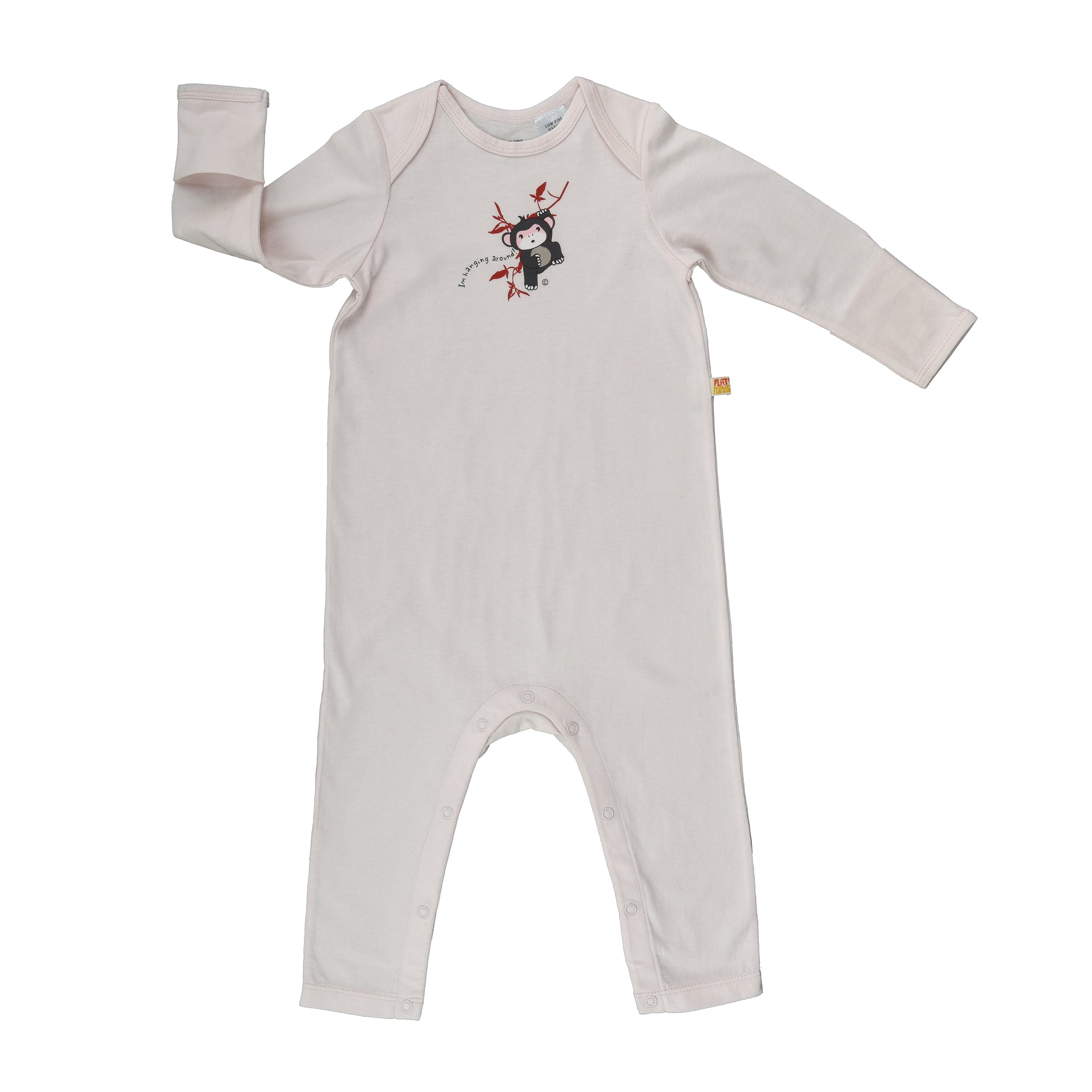 Long Sleeve Baby Jump Suit - Organic Cotton -Chimp