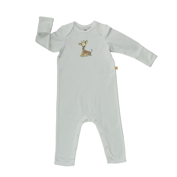 Long Sleeve Baby Jump Suit - Organic Cotton - Giraffe