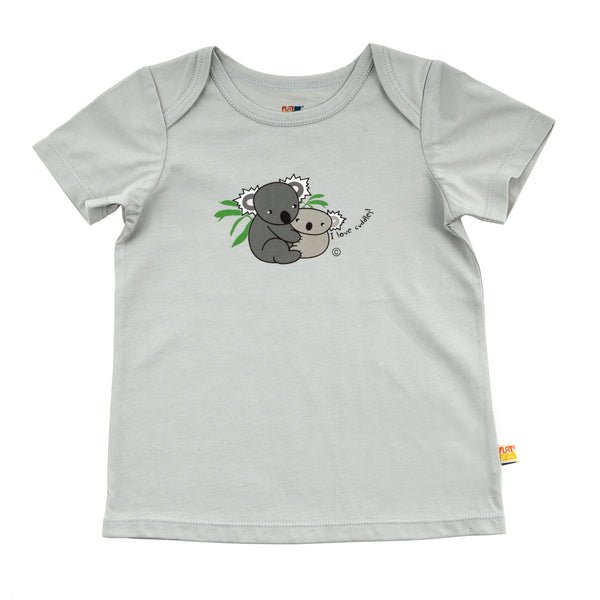 Baby Short Sleeve T-Shirt - Organic Cotton -Koala