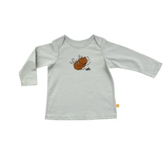 Baby Long Sleeve T-Shirt - Organic Cotton -Wombat