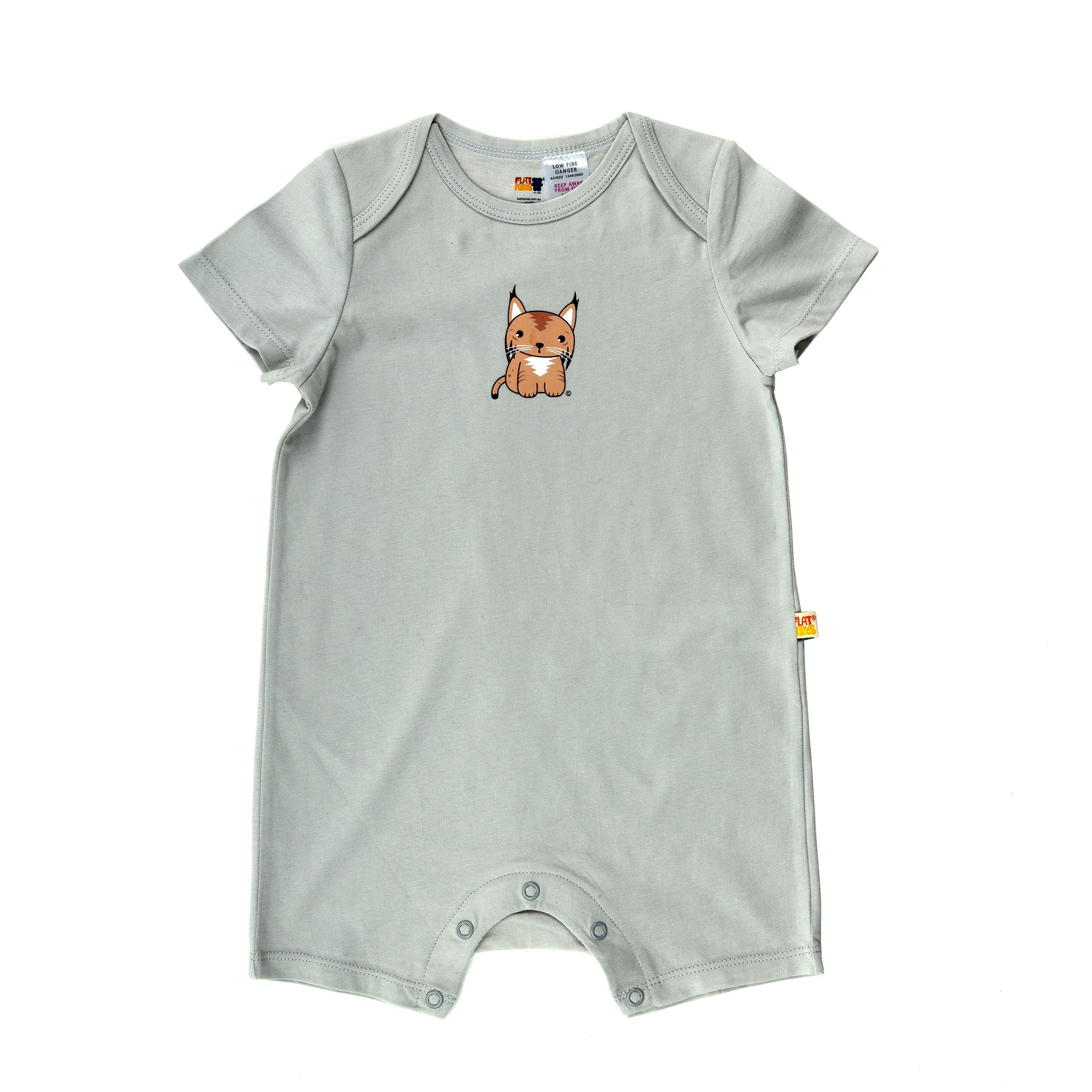 Short Sleeve Baby Jump Suit - Organic Cotton -Lynx