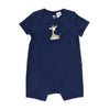 Short Sleeve Baby Jump Suit - Organic Cotton -Giraffe