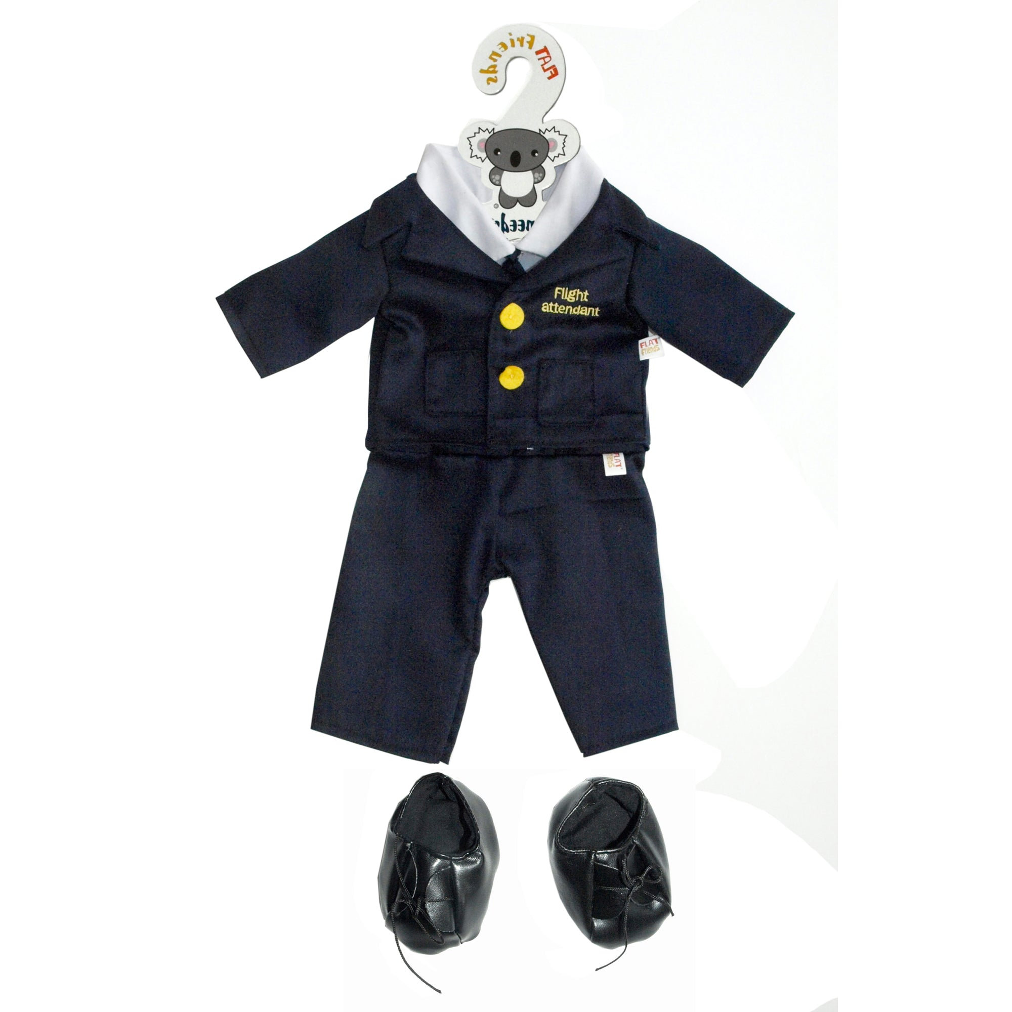 Flight attendant uniform, navy pants & jacket, 46cm HP