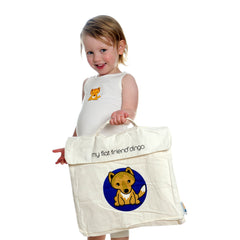 Grey Kangaroo Cotton Carry Bag