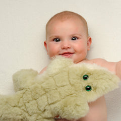 Sunny, Salt Water Crocodile Flat Lambskin-Sheepskin Soft Toy Baby Comforter