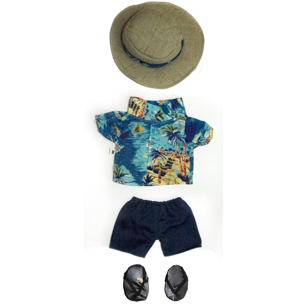 Hawaiian shirt & shorts, 46cm HP