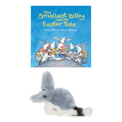 The smallest bilby &  Bilby Lambskin soft toy