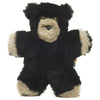 Bly, Black Bear Flat Lambskin-Sheepskin Soft Toy Baby Comforter