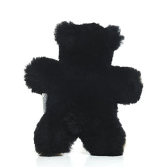 Black Bear Lambskin Soft Toy