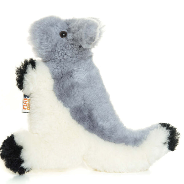 Grey Kangaroo Lambskin Soft Toy