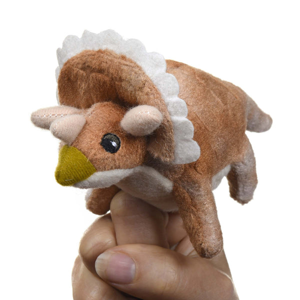 Tracie, Triceratops Dinosaur Finger Puppet
