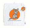 Grey Kangaroo Cotton Drawstring Bag
