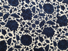 et cetera WOMAN Ink Navy damask hand-batik silk