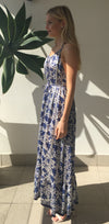 et cetera WOMAN Island Escape Halter Maxi Dress in hand-batik silk