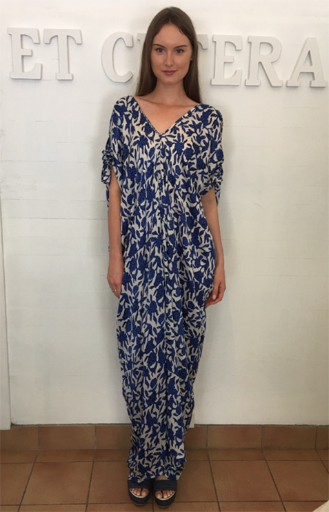 et cetera WOMAN Elle Maxi Dress in hand-batik silk