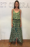 et cetera WOMAN Katie Shirred Waist Maxi Dress in hand-batik silk