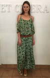 et cetera WOMAN Romayne Peek a Boo Maxi Dress in hand-batik silk