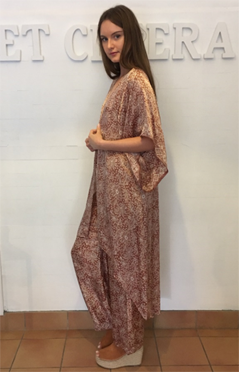 et cetera woman Aiysha Lounge Pants in hand-batik silk