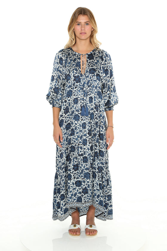 [et cetera] WOMAN Wategos Boho Dress with Bib Neckline and Flounce Skirt
