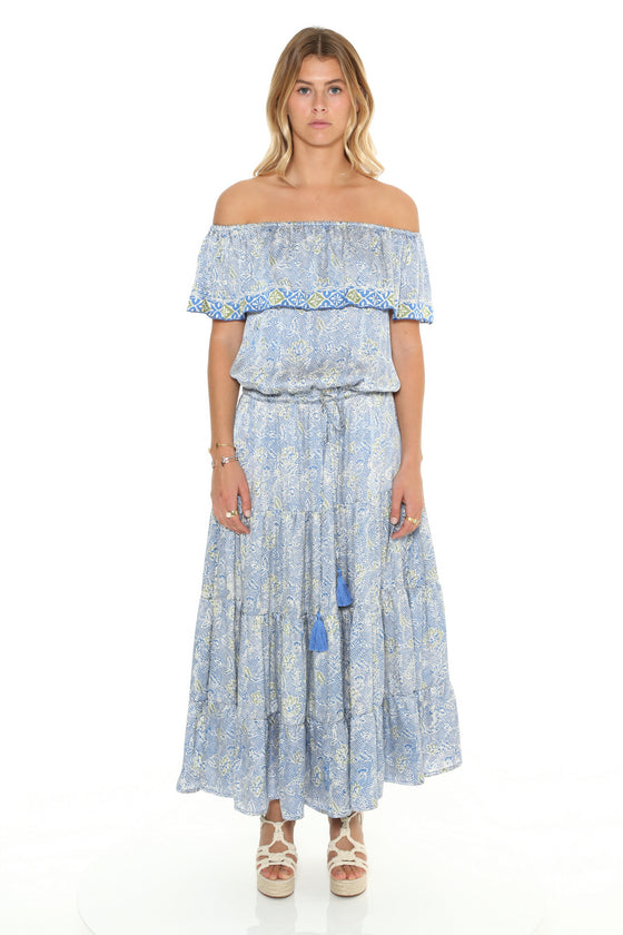 [et cetera] WOMAN Freshwater Off the Shoulder Flamenco Dress