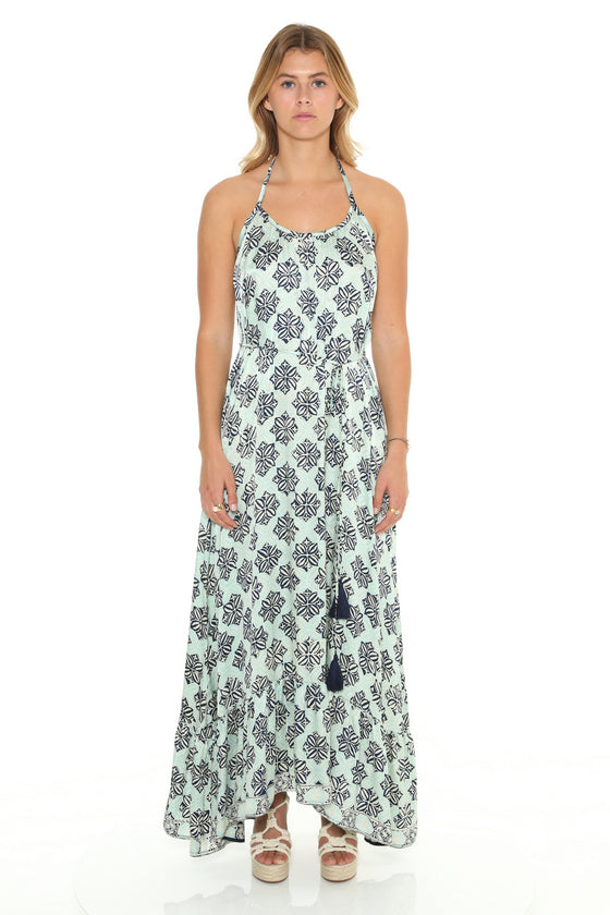 [et cetera] WOMAN Bedarra Halter Neck Maxi Sundress