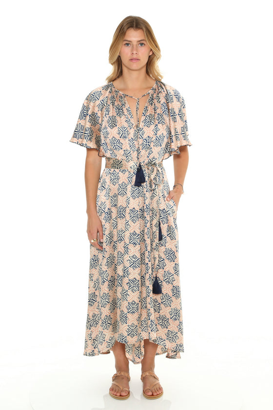 [et cetera] WOMAN Vivonne Bay Flutter Sleeve Tea Dress