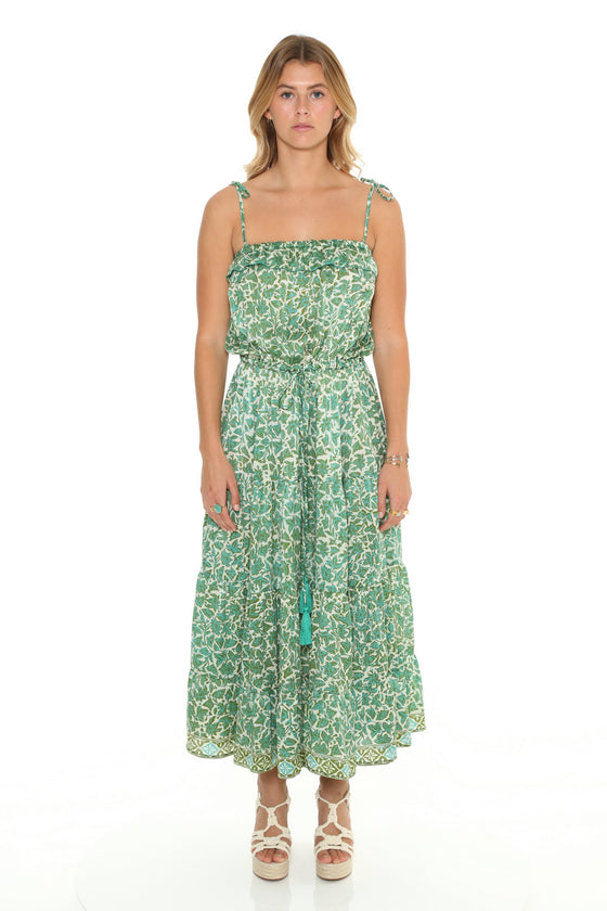 [et cetera] WOMAN Palm Cove Tie Shoulder Three Flounce Sundress
