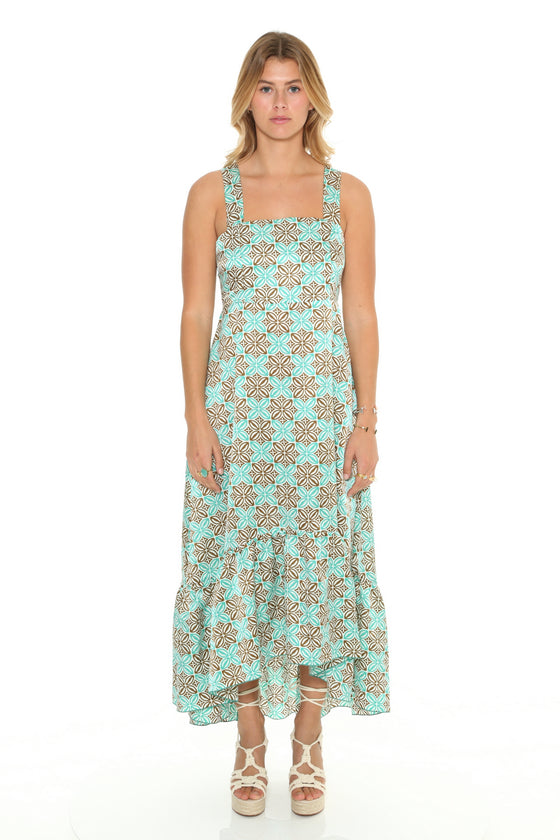 [et cetera] WOMAN Bronte High Low Flounce Sundress with Tie Back
