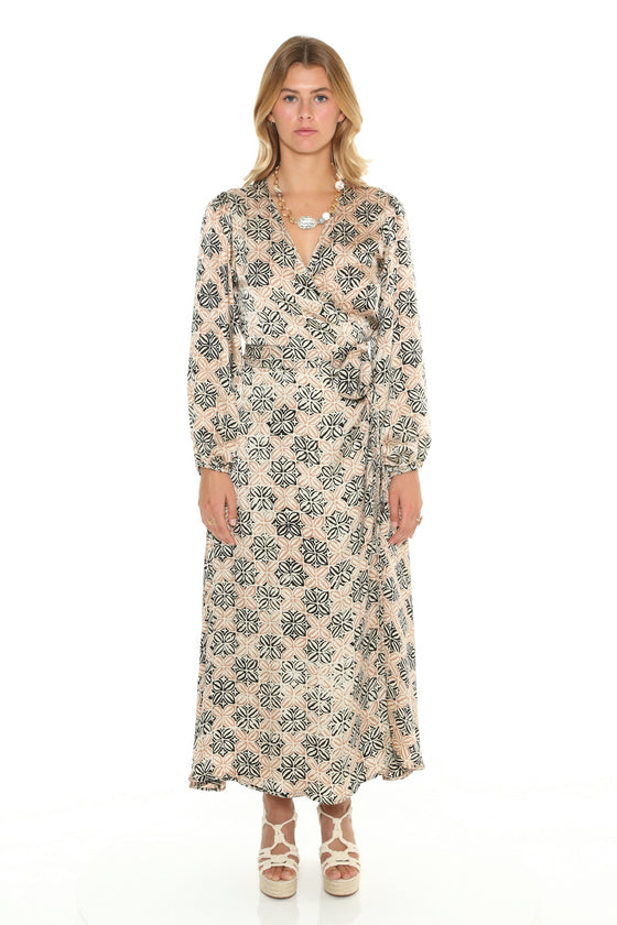 [et cetera] WOMAN Noosa Bishop Sleeve Wrap Maxi Dress