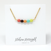 Colorful Beaded Bar Necklace