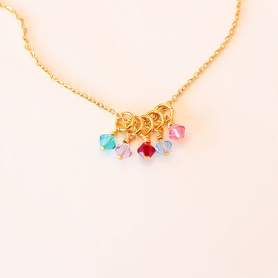 Grandma Birthstone Charm Necklace