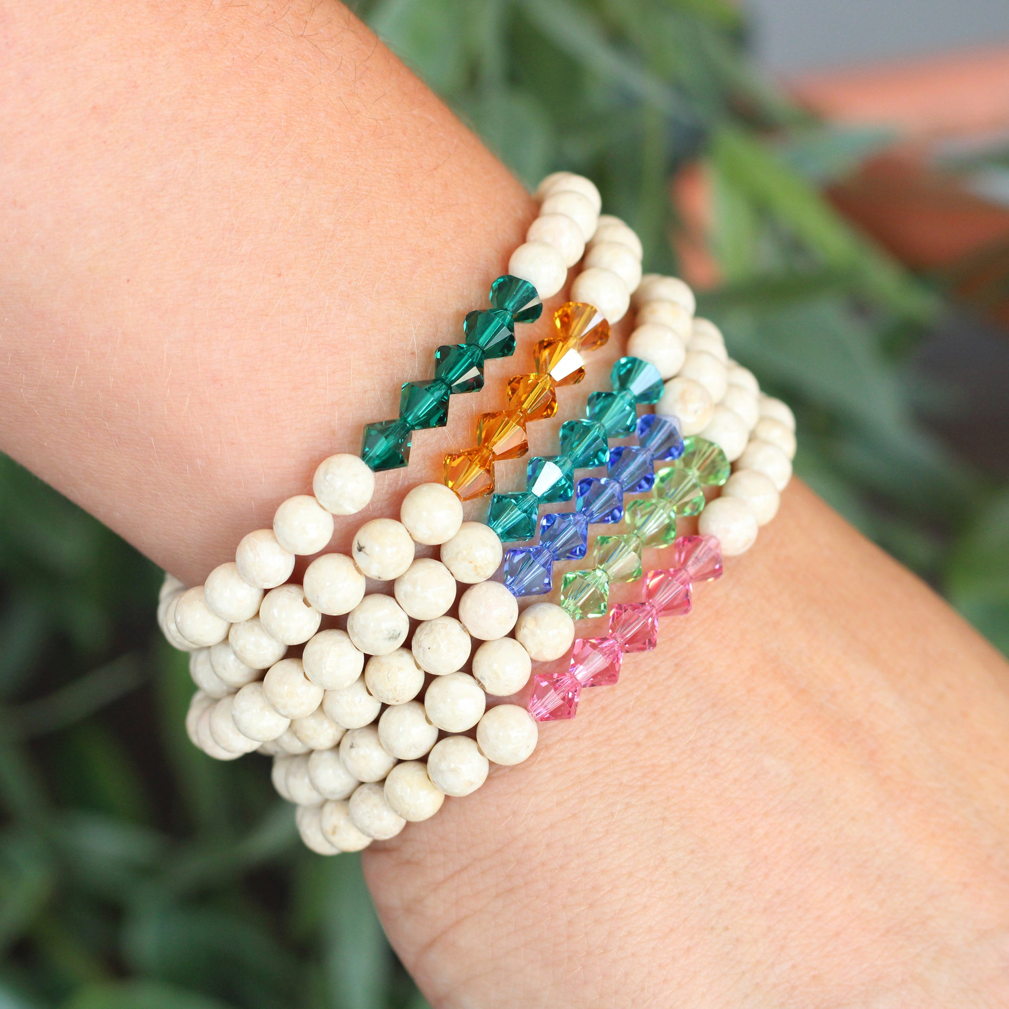 Birthstone Beaded Bracelet