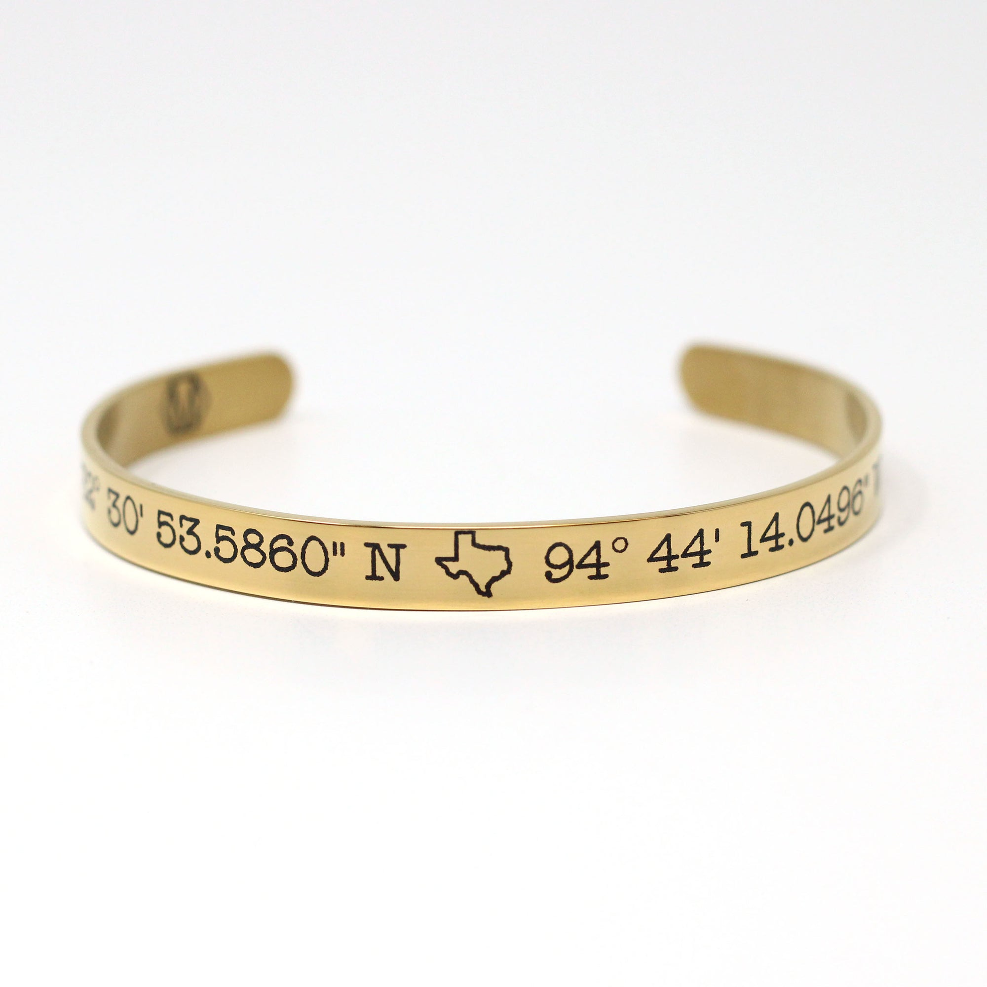 Customized Coordinates Cuff Bracelet