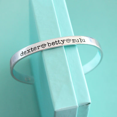 Personalized Pet Name Cuff Bracelet